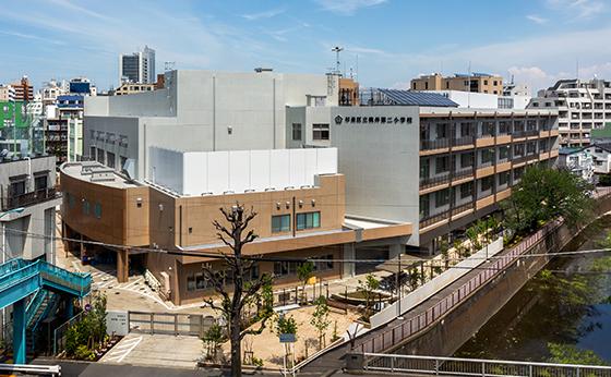 杉並区立桃井第二小学校(季刊 文教施設 2020春号に掲載)